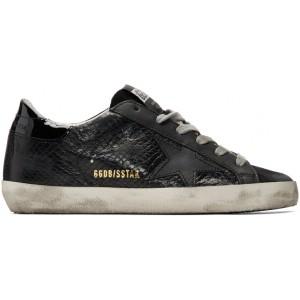 Black Snake Superstar Sneakers