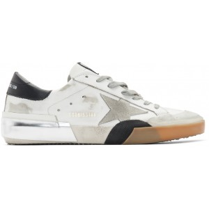 White Patchwork Superstar Sneakers