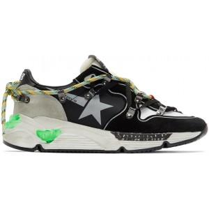 Black Suede Running Sole Sneakers