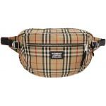 Beige Vintage Check Belt Bag
