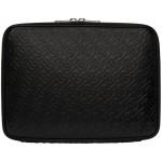 Black Monogram Laptop Case