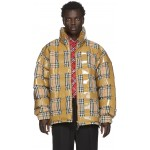 Beige Down Check Tape Jacket