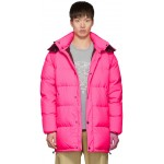 Pink Down Elongated Puffer Jacket