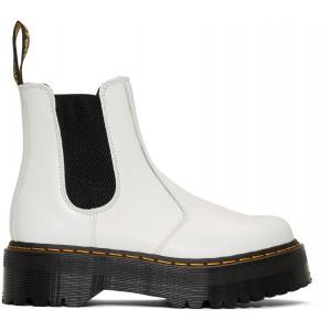 White 2976 Quad Chelsea Boots