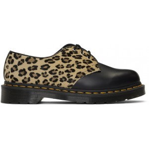 Black Leopard 1461 Lace-Up Derbys