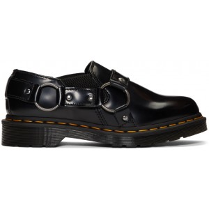 Black Gilbey Buckle Loafers