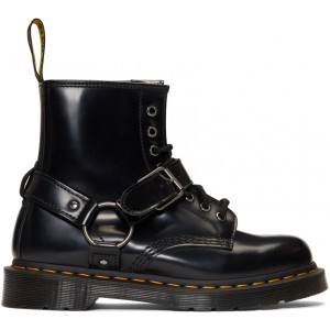 Black 1460 Harness Lace-Up Boots