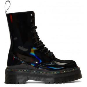 Black Rainbow Oil Slick Jadon Hi Boots