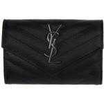 Black Monogramme Flap Wallet