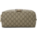 Beige & Brown Medium GG Ophidia Cosmetic Case
