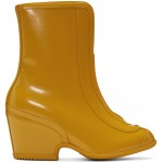 Yellow Rubber Kitt Ankle Boots