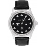 Silver & Black G-Timeless Automatic Bees Watch