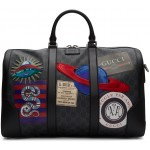 Black Soft GG Supreme Night Courrier Carry-On Duffle Bag