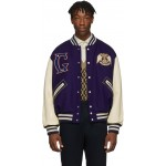 Blue & Off-White 'Gucci Band' Varsity Jacket