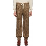 Brown Jacquard 'Gucci Rhombus' Track Pants