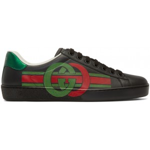 Black Interlocking G New Ace Sneakers
