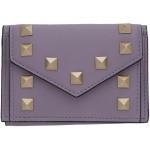 Purple Valentino Garavani Small Rockstud Wallet