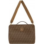 Brown & Beige Medium 'Forever Fendi' Travel Bag