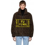 Brown Shearling 'Forever Fendi' Jacket