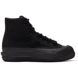 Black Bosey MC High-Top Sneakers