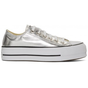 Silver Chuck Taylor All Star Lift Sneakers
