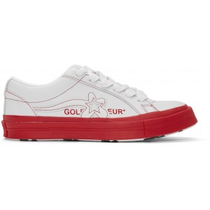 White & Red Golf le Fleur* One Star OX Sneakers