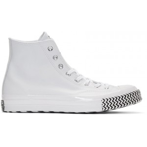 White Leather Chuck 70 Mission V Hi Sneakers