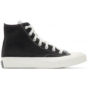 Blue & Black Renew Denim Chuck 70 Hi Sneakers