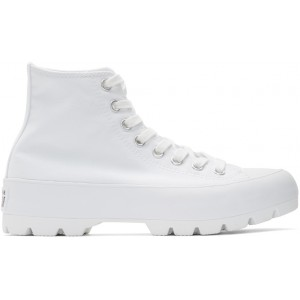 White CTAS Lugged Hi Sneakers
