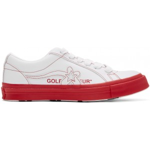 White & Red Golf le Fleur* OX Sneakers