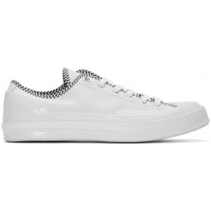 White Leather Chuck 70 Mission V Sneakers