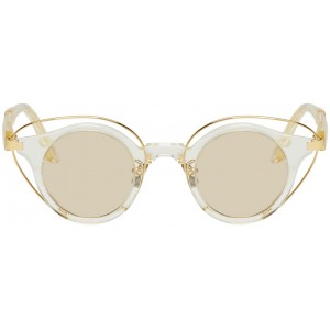 Gold & Transparent N10 CHP Sunglasses