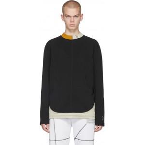 Black Overlock Long Sleeve T-Shirt