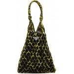 Black & Yellow Small Mesh Tote