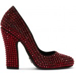 Black & Red Crystal Heels