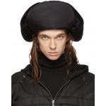 Black Shearling Trapper Hat