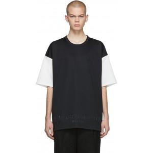 Black & White Pique Two-Tone T-Shirt