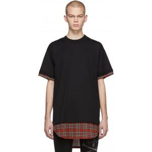 Black Tartan Layered T-Shirt