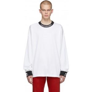 White Skull Logo Long Sleeve T-Shirt