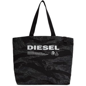 Black & Grey D-Thisbag Shopping Tote