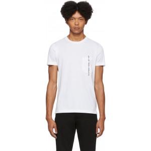 White Rubin-Pocket-J1 T-Shirt