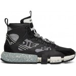 Black & Grey S-Padola Mid Trek Sneakers