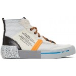 White & Orange S-Dese Sneakers