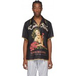 Black Silk Hawaii Pin-Up Shirt
