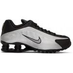 Black & Silver Shox R4 Sneakers