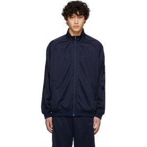 Navy Chaos Embroidery Track Jacket