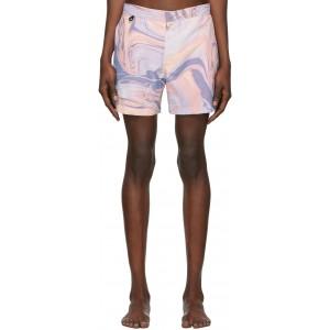 Multicolor Honey Pot Swim Shorts