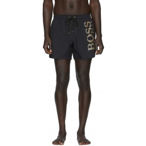 Black & Gold Icefish Swim Shorts