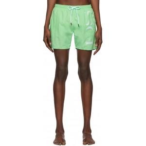 Green Logo Swim Shorts