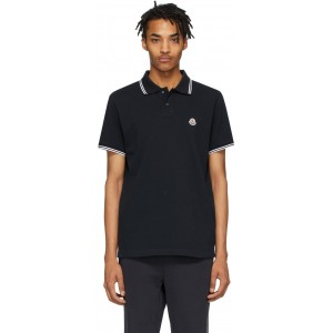 Navy Logo Patch Polo